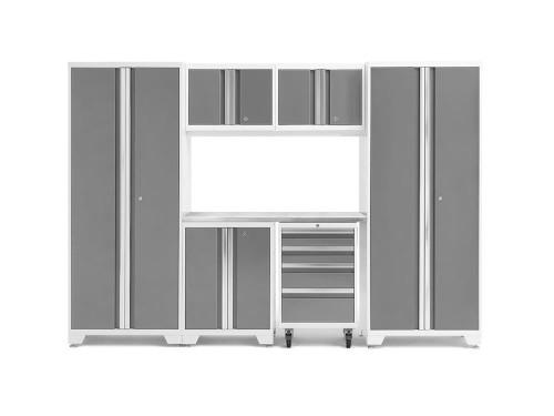 NewAge Bold 3.0 White 7 Piece Set w/Stainless Steel Worktop