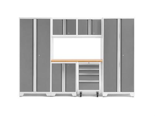 NewAge Bold 3.0 White 7 Piece Set w/Bamboo Worktop