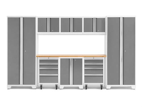 NewAge Bold 3.0 White 9 Piece Set w/Bamboo Worktop