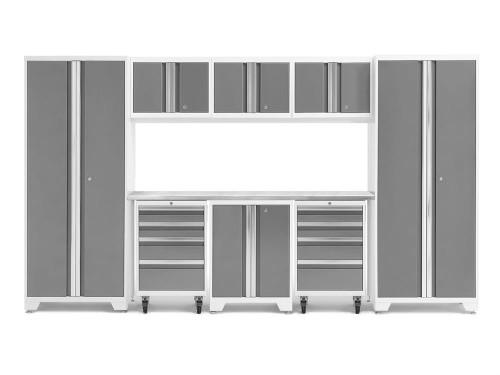 NewAge Bold 3.0 White 9 Piece Set w/Stainless Steel Worktop