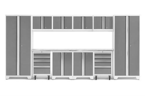 NewAge Bold 3.0 White 12 Piece Set w/Stainless Steel Worktop