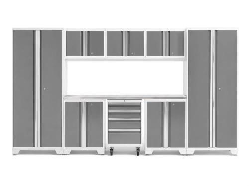 NewAge Bold 3.0 White 9-Piece Set w/Stainless Steel Worktop