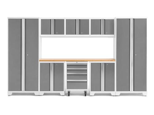 NewAge Bold 3.0 White 9-Piece Set w/Bamboo Worktop