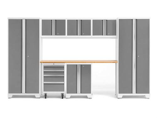 NewAge Bold 3.0 White 8 Piece Set w/Bamboo Worktop