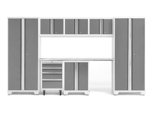 NewAge Bold 3.0 White 8 Piece Set w/Stainless Steel Worktop
