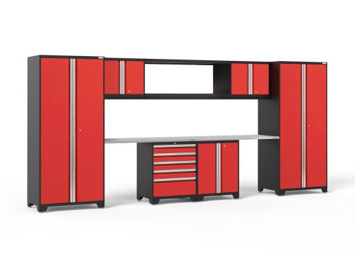 NewAge Pro 3.0 Red 9-Piece Set w/Stainless Steel Worktop