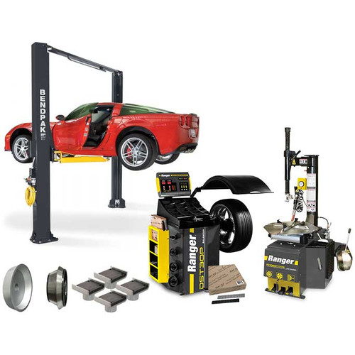 BendPak XPR-10AS + R980XR + DST30P + APX-TS1 Tire Shop Bundle