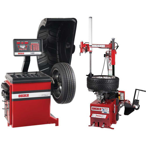 Coats 60X Rim Clamp Tire Changer + Coats 1400-2D Direct Drive Wheel Balancer Combo