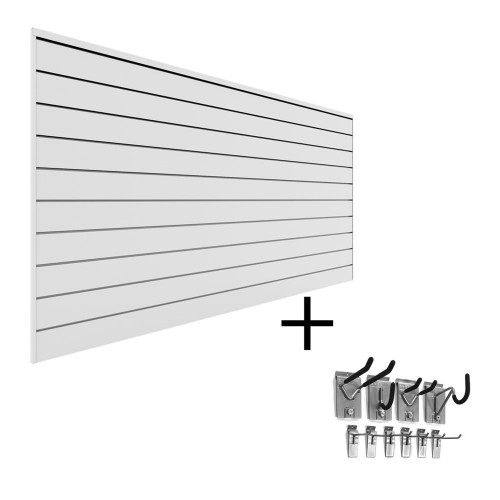 Proslat PVC Slatwall Mini Bundle - White