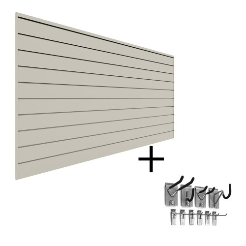 Proslat PVC Slatwall Mini Bundle - Sandstone