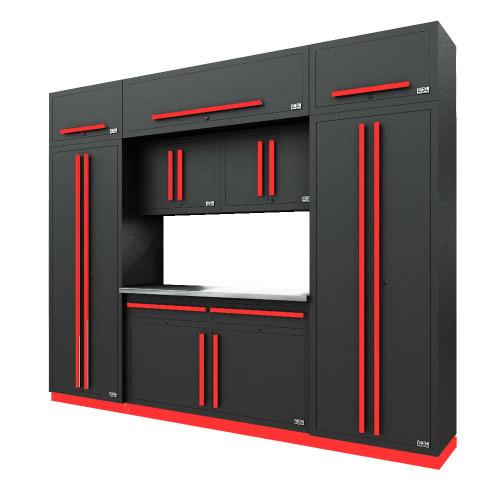 Proslat Fusion PRO 9 Piece Cabinet Set - Barrett-Jackson Red