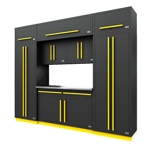 Proslat Fusion PRO 9 Piece Cabinet Set - Yellow