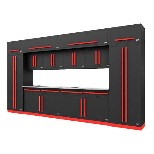 Proslat Fusion PRO 14 Piece Cabinet Set - Barrett-Jackson Red