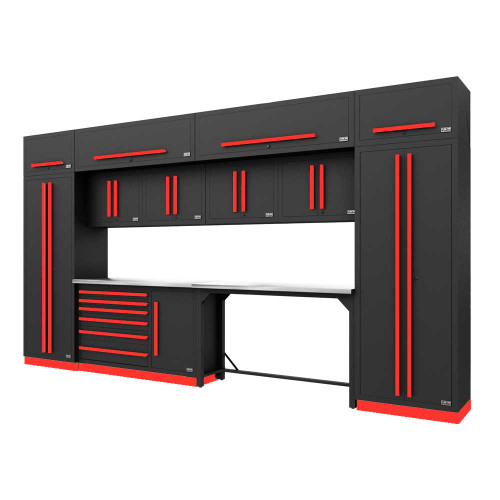 Proslat Fusion PRO 14 Piece Work Bench Set - Barrett-Jackson Red