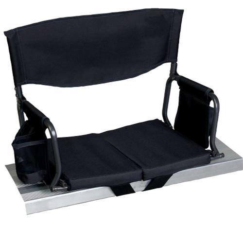 RIO Gear Bleacher Boss Folding Stadium Seat - Black