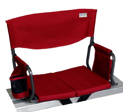 RIO Gear Bleacher Boss Folding Stadium Seat - Red