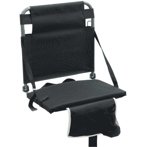 RIO Gear Bleacher Boss Companion Stadium Seat with Pouch - Black