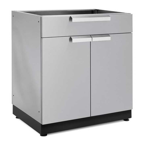 "NewAge Stainless Steel 32"" 2-Door with Drawer Cabinet"