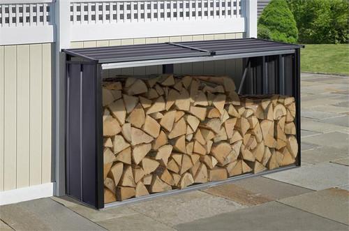 Arrow Firewood Rack 8 x 2 ft. Anthracite