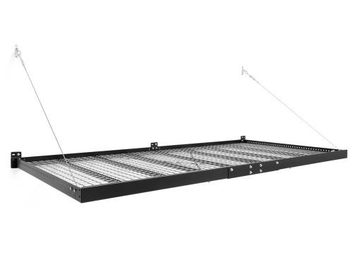 NewAge Pro Series 4 ft. x 8 ft. Wall Mounted Steel Shelf - Black (Set of 2)