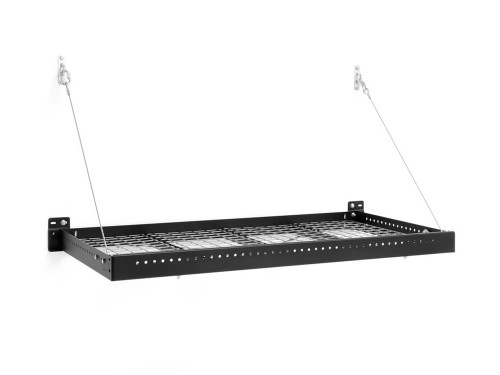 NewAge Pro Series 2 ft. x 4 ft. Wall Mounted Steel Shelf - Black (Set of 2)