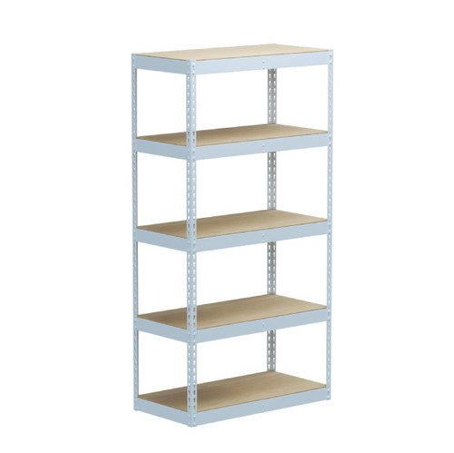 SafeRacks 18 x 36 x 72 Modular Garage Shelving Rack - White