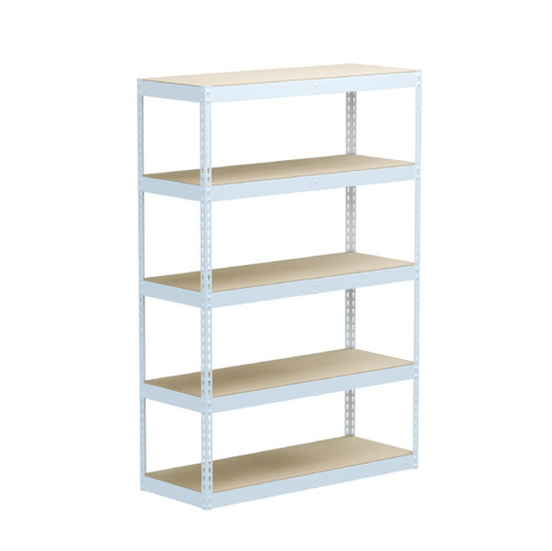 SafeRacks 18 x 48 x 72 Modular Garage Shelving Rack - White