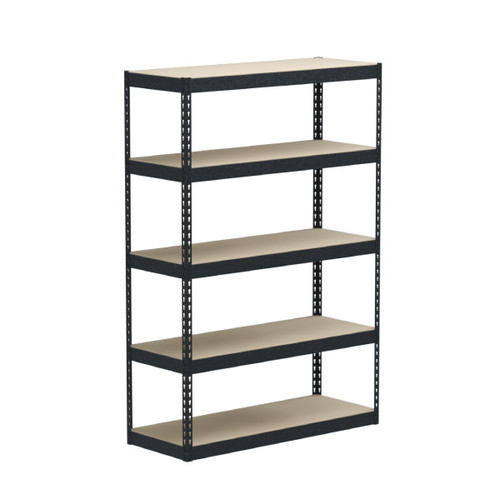 SafeRacks 18 x 48 x 72 Modular Garage Shelving Rack - Hammertone