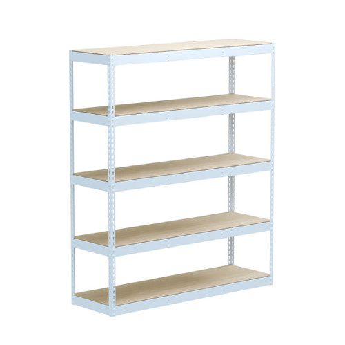 SafeRacks 18 x 60 x 72 Modular Garage Shelving Rack - White