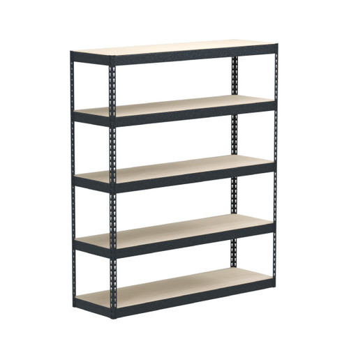 SafeRacks 18 x 60 x 72 Modular Garage Shelving Rack - Hammertone