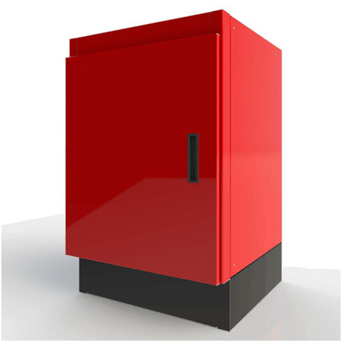 Moduline Select Series Aluminum Base Cabinet With Adjustable Shelf and Bottom - Red