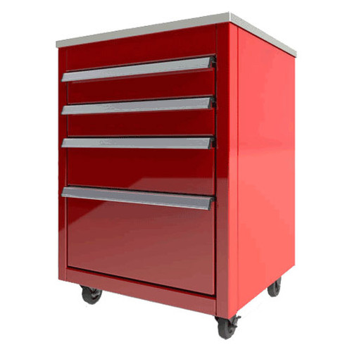 Moduline Select Series Aluminum Mobile Tool Box Featuring QuikDrawer® Single Action Latch System - Red