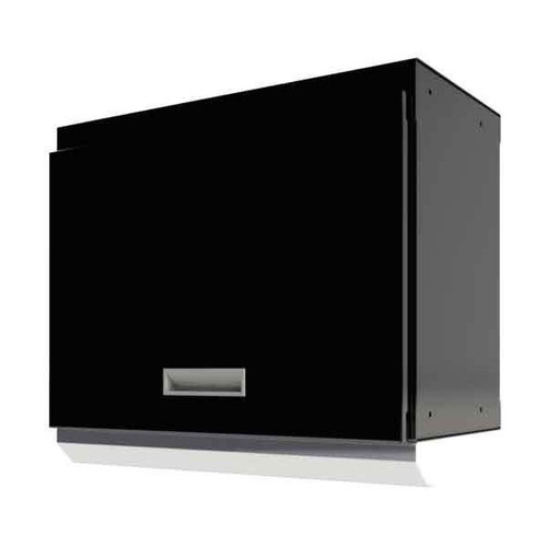 "Moduline Select Series 24""W Aluminum Overhead Cabinet With Light Shield - Black"