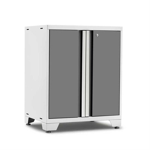 NewAge Pro Series 3.0 White w/Platinum Door 2-Door Base Cabinet