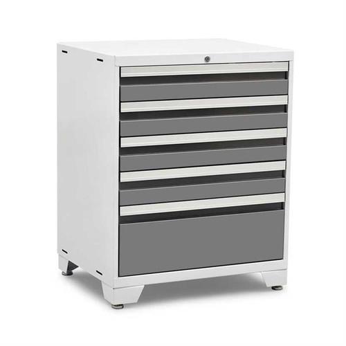 NewAge Pro Series 3.0 White w/Platinum Drawers 5-Drawer Tool Cabinet
