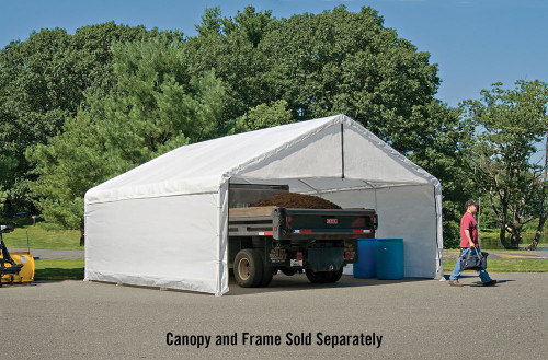 ShelterLogic Canopy Enclosure Kit 18' × 30' - White FR Rated (Frame and Canopy Sold Separately)