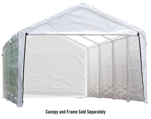 ShelterLogic Canopy Enclosure Kit for the SuperMax 12ft. x 26ft. - White