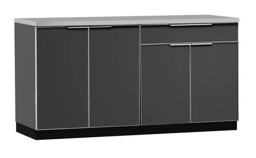 "NewAge Aluminum Slate 64""W x 24""D Outdoor Kitchen Set w/Countertop"