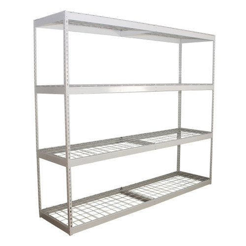 SafeRacks 2'x8'x7' Garage Shelving - White