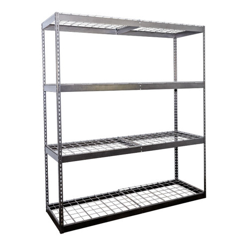SafeRacks 2'x6'x7' Garage Shelving - Hammertone