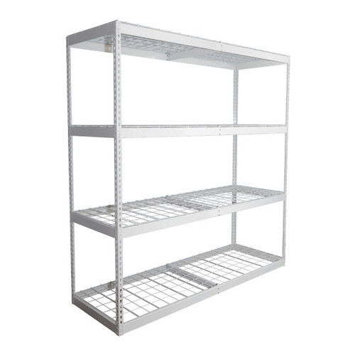 SafeRacks 2'x6'x7' Garage Shelving - White