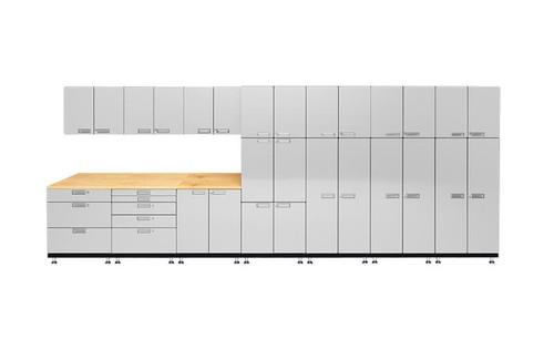 Hercke 11-Piece Powder Coated Garage Cabinet System