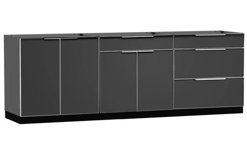 "NewAge Aluminum Slate 96""W x 24""D Outdoor Kitchen Set"