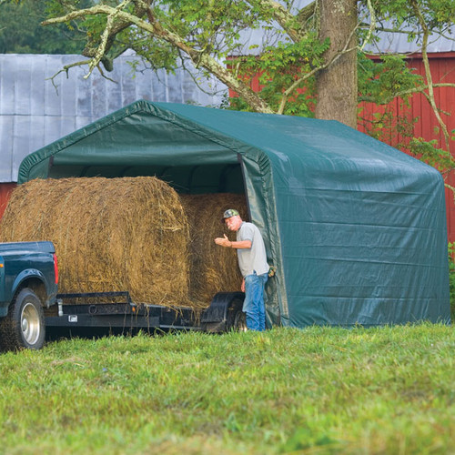 ShelterLogic Peak Style Storage Shelter 12' x 20' x 8'