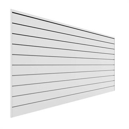 Proslat 8' x 4' PVC Wall Panels & Trims – White