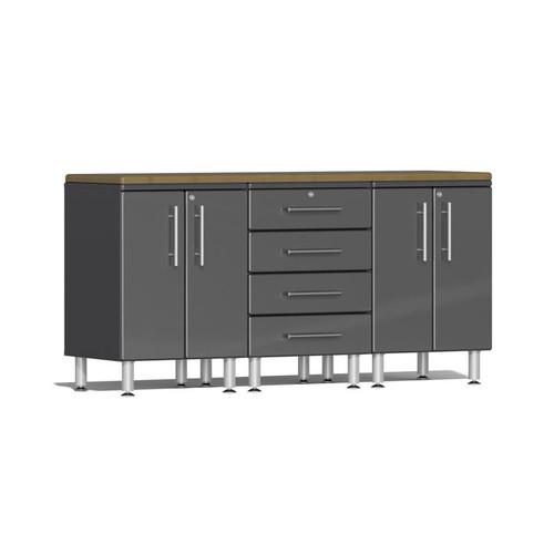 Ulti-MATE Garage 2.0 Series Grey Metallic 4-Piece Workstation Kit