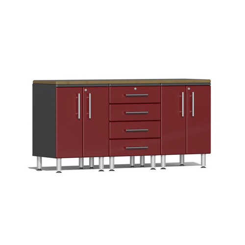 Ulti-MATE Garage 2.0 Series Red Metallic 4-Piece Workstation Kit