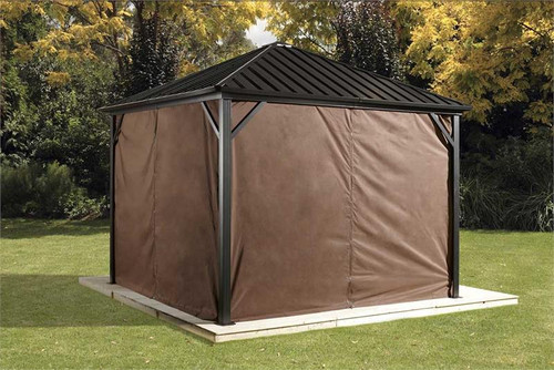 Sojag Curtains for Dakota 10 x 10 ft Brown - Gazebo Not Included