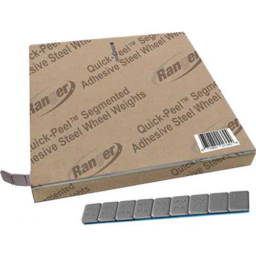 Ranger Adhesive Steel Wheel Weights, Silver, 700 pcs