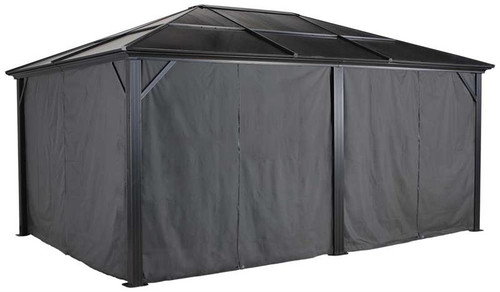 Sojag Curtains for Meridien 10 x 14 ft Grey - Gazebo Not Included